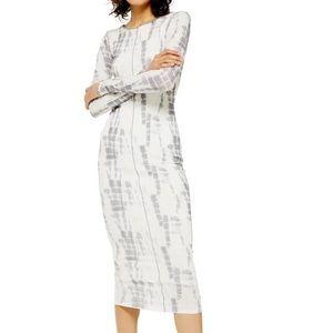 Topshop Tie Dye Mesh Midi Dress